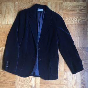 Vintage Blue Velvet Blazer